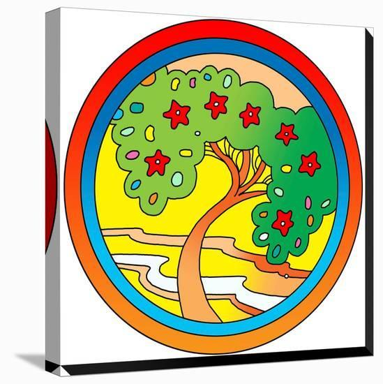 Circle-Tree-Howie Green-Stretched Canvas Print