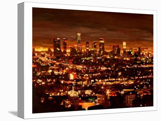 City Of Angels - City Of Light - Los Angeles-M Bleichner-Stretched Canvas Print