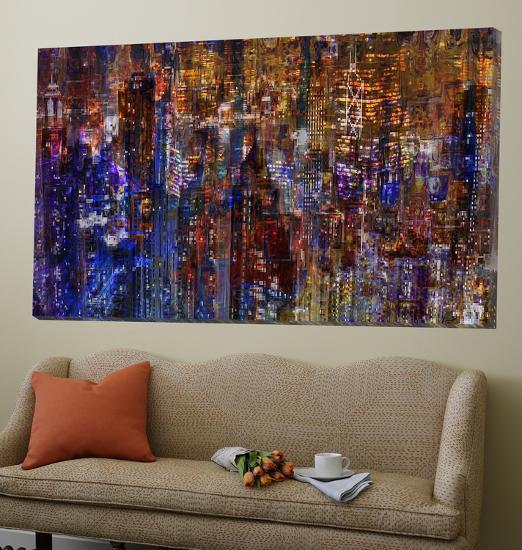 City Scene Abstract-Jefd-Loft Art