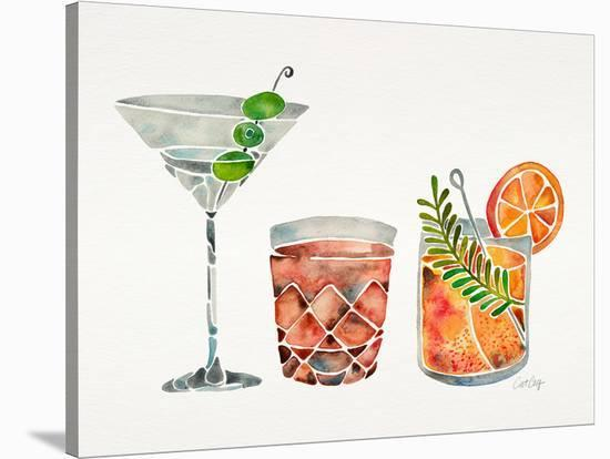 Classic Cocktails-Cat Coquillette-Stretched Canvas Print