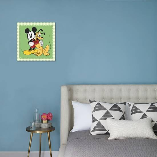 themed bedrooms for adults disney mickey mouse bedroom.htm classic mickey mouse and pluto   stretched canvas print art com  classic mickey mouse and pluto