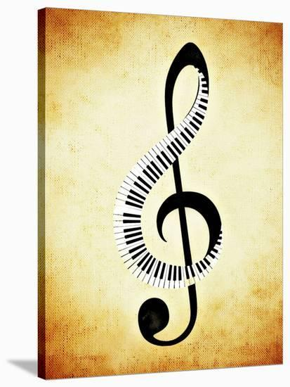 Clef Music Musically-Wonderful Dream-Stretched Canvas Print