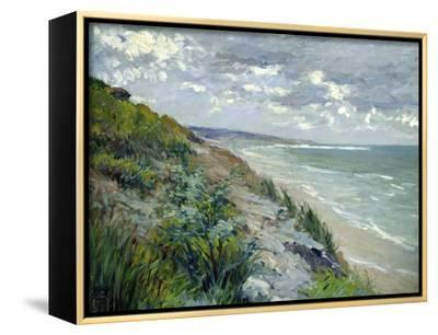 Cliffs by the Sea at Trouville-Gustave Caillebotte-Framed Canvas Print