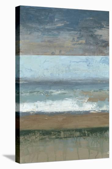 Coastal Abstract I-Jennifer Goldberger-Stretched Canvas Print