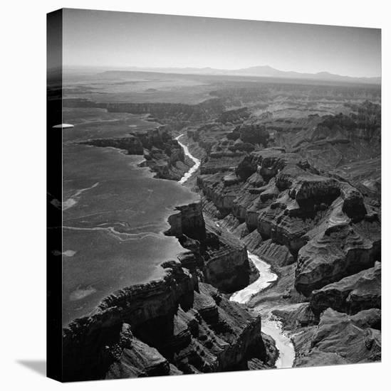 Colorado River Winding its Way Through Grand Canyon National Park-Frank Scherschel-Stretched Canvas Print