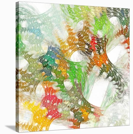Colorful Abstract Lattice--Stretched Canvas Print