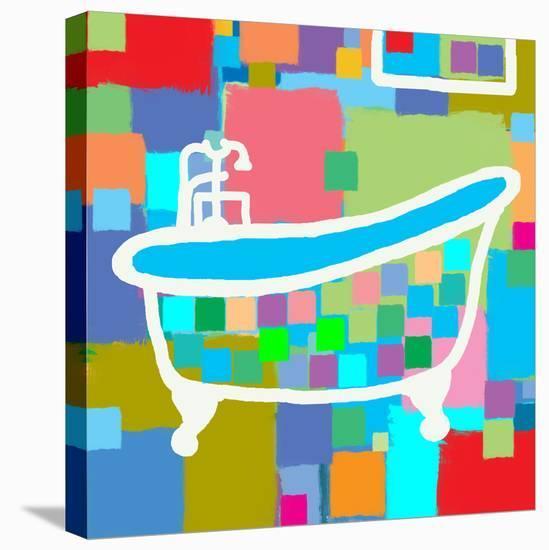 Colorful Bath I-Yashna-Stretched Canvas Print