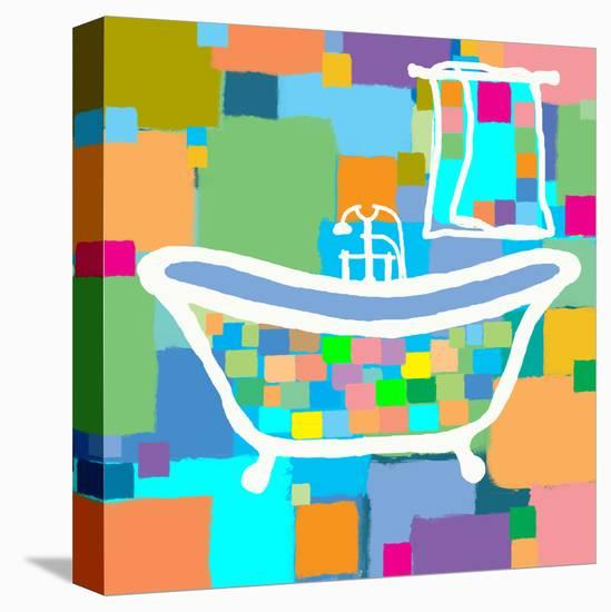 Colorful Bath III-Yashna-Stretched Canvas Print