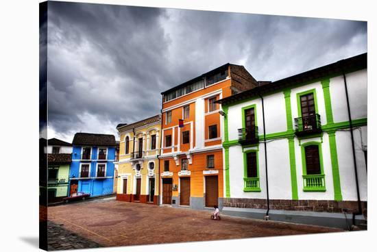 Colorful Buildings in City-Nish Nalbandian-Stretched Canvas Print