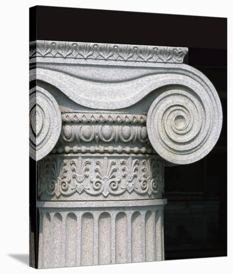 Column detail, U.S. Treasury Building, Washington, D.C.-Carol Highsmith-Stretched Canvas Print