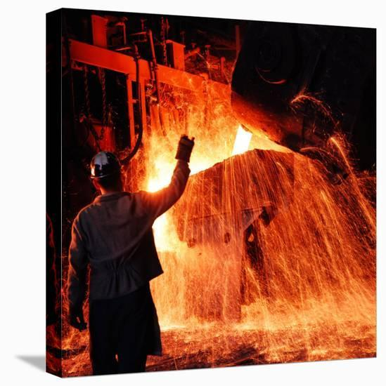 Compania de Acero Del Pacifico Steel Mill, Chile-Bill Ray-Stretched Canvas Print