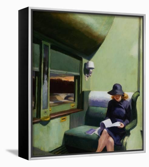 Compartment C, Car 293-Edward Hopper-Stretched Canvas