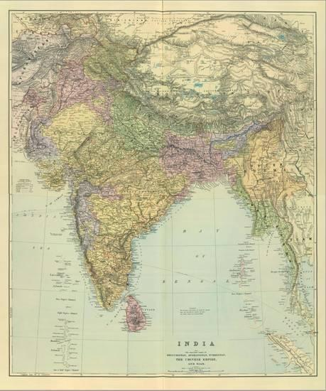 Composite India C 1901 Stretched Canvas Print Edward Stanford Art Com