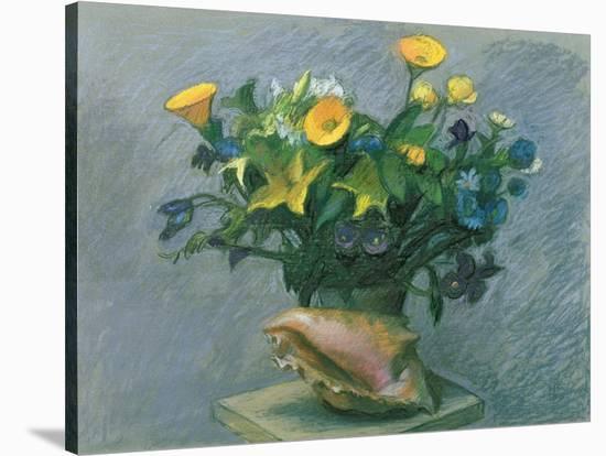 Conch & Flowers, 1989-Hans Feibusch-Premier Image Canvas
