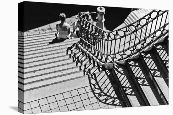 Confidential Stairs-Laura Mexia-Stretched Canvas Print