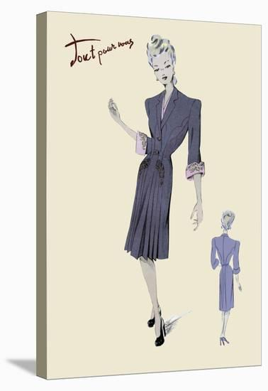 Conservative Suit Dress, 1947--Stretched Canvas Print