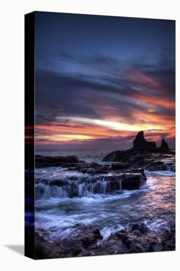 Cool Sunset over Rocks I-Nish Nalbandian-Stretched Canvas Print