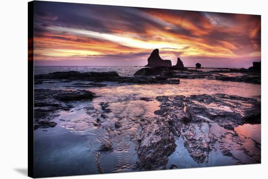 Cool Sunset over Rocks II-Nish Nalbandian-Stretched Canvas Print