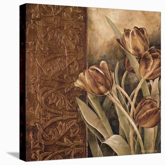 Copper Tulips I-Linda Thompson-Stretched Canvas Print