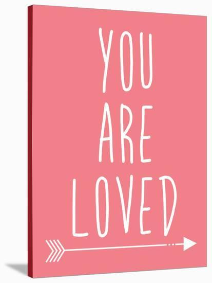 Coral You Are Loved-Jetty Printables-Stretched Canvas Print