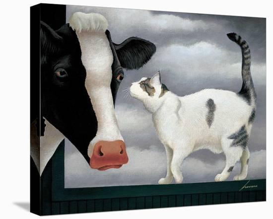 Cow and Cat-Lowell Herrero-Stretched Canvas Print