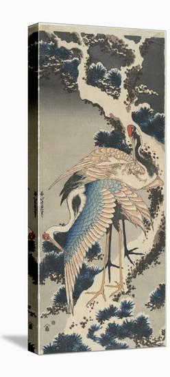 Cranes on Pine, C. 1834-Katsushika Hokusai-Stretched Canvas Print