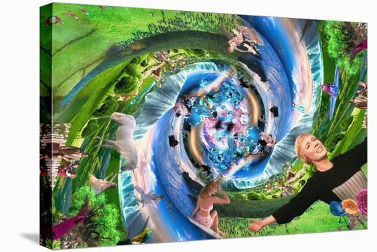 Creation (Megaplex), Garden of Eden-Marco Brambilla-Stretched Canvas Print