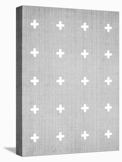 Crosses On Grey-LILA X LOLA-Stretched Canvas Print