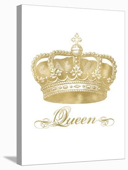 Crown Queen Golden White-Amy Brinkman-Stretched Canvas Print