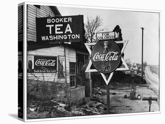 Cruel Display of Racist Condescension in the Land of Segregation-Margaret Bourke-White-Stretched Canvas Print