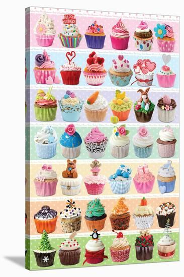 Cupcakes Celebration--Stretched Canvas Print