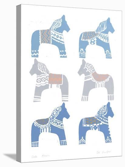Dala Horse-Zoe Badger-Stretched Canvas