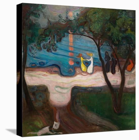 Dancing on the Shore-Edvard Munch-Stretched Canvas Print