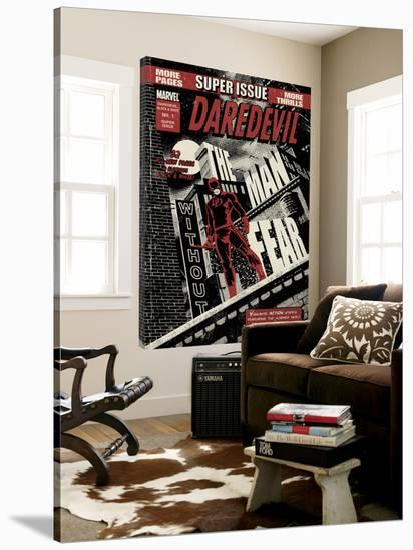 Daredevil Black & White No.1 Cover: Daredevil Standing on a Rooftop-David Aja-Loft Art