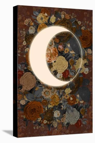 Dark Floral Lunar Eclipse--Stretched Canvas Print