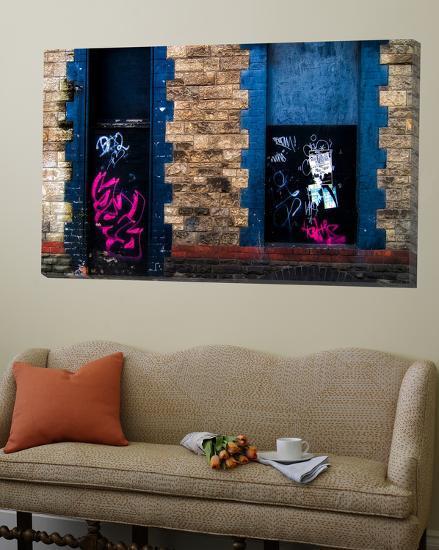 Derelict Door and Window with Graffiti-Clive Nolan-Loft Art