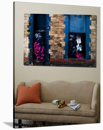 Derelict Door and Window with Graffiti-Clive Nolan-Loft Art