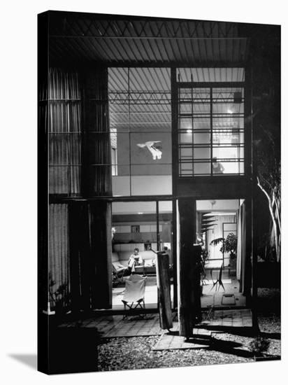 Designer House by Charles Eames-Peter Stackpole-Stretched Canvas Print