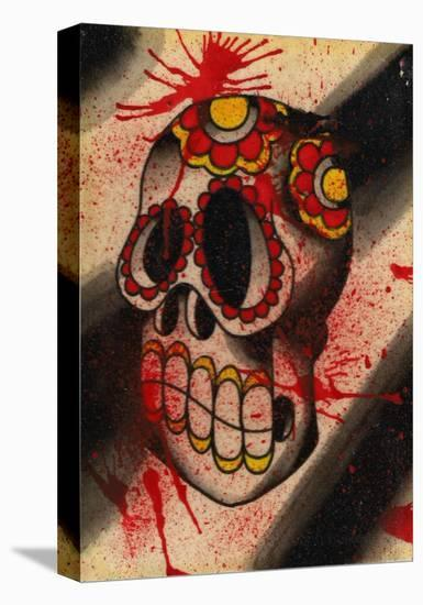 Dia Skull- Rone-Stretched Canvas Print