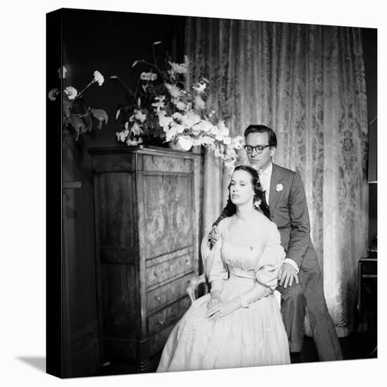 Director Sidney Lumet and Gloria Vanderblit at their Wedding Reception, New York, August 1956-Gordon Parks-Stretched Canvas Print