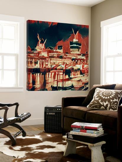 Distorted city scene 23-Jean-François Dupuis-Loft Art
