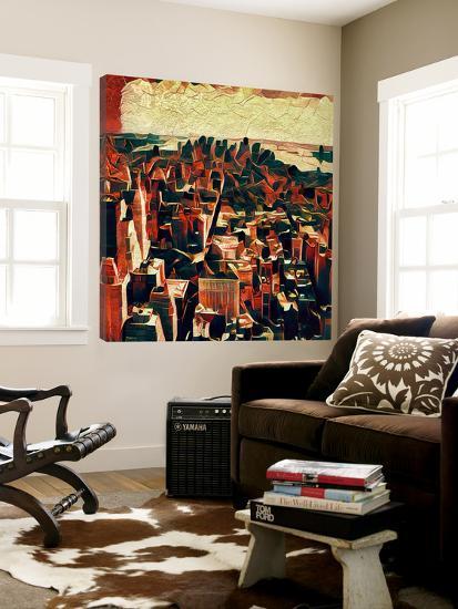 Distorted city scene 33--Loft Art