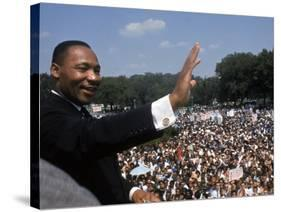"""Dr. Martin Luther King Jr. Giving """"I Have a Dream"""" Speech During the March on Washington-Francis Miller-Premier Image Canvas"""