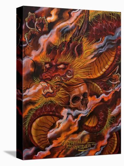 Dragons Descent-Manuel Valenzuela-Stretched Canvas Print