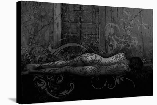 Dreamer in the Garden-Rosa Mesa-Stretched Canvas Print
