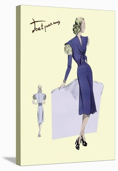 Dress Suit with Pleats, 1947--Stretched Canvas Print