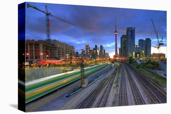 Dynamic Downtown Toronto--Stretched Canvas Print