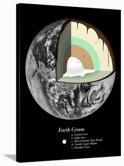 Earth Cream-Florent Bodart-Stretched Canvas Print