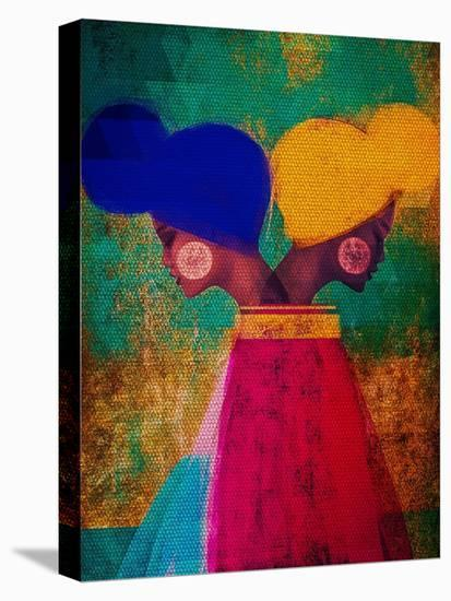 Easy Ease (Vibrant)-Erin K. Robinson-Stretched Canvas Print