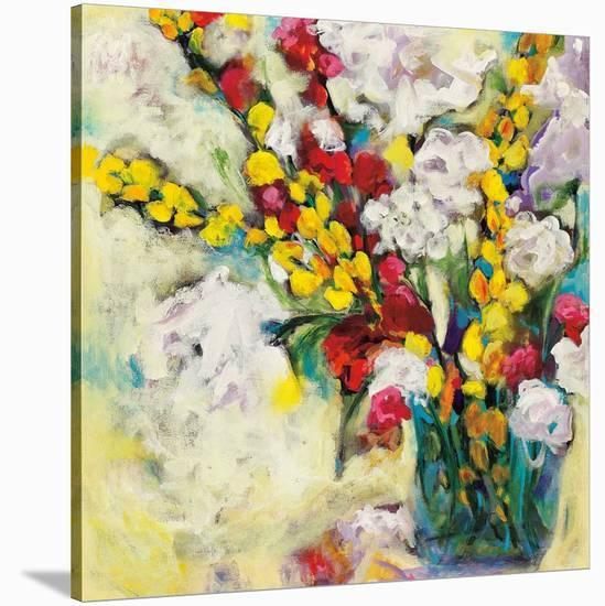 Echoes in Yellow & White-Georgia Eider-Stretched Canvas Print